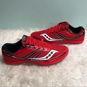 Saucony Men's Cross Country Shoe: Red | Size 10